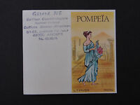 Ancienne carte parfumée calendrier 1988 POMPEIA LT PIVER PARIS Angers