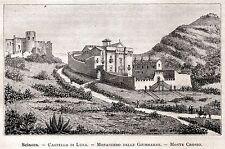 Sciacca: Castello Luna e Santuario di Santa Maria delle Giumarre. Sicilia. 1892