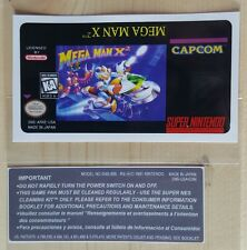 REPLACEMENT SNES CARTRIDGE STICKER LABELS FOR: MEGA MAN X2