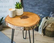 WOOD COFFEE TABLE * Tree Trunk Side Table * Wooden Rustic Nightstand
