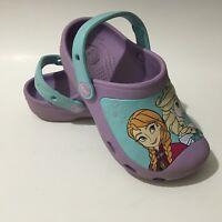 CLOSEOUT Crocs Kids Deco Canvas Sneakers Red Purple Fuchsia Junior Size 6