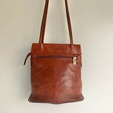 Valentina In Pell Brown Leather Purse Made in Italy Excellent Condition