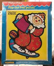 Vintage Fisher-Price 1992 Pop-Out Tray Puzzle 8 Pieces Clown Ages 2-5