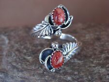 Native American Jewelry Sterling Silver Spiny Oyster Adjustable Ring!