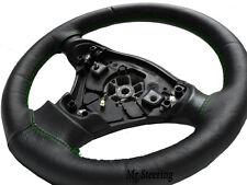Negro Cuero de grano cubierta del volante Para Mazda 5 Mk2 (05-10) Verde Costura