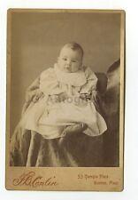 19th Century Fashion - Infant - Cabinet Card by F.B. Conlin, Boston, MA