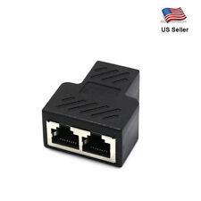 1 to 2 LAN ethernet Network RJ45 Splitter Extender Plug Adapter