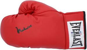 Muhammad Ali Autographed Red Everlast Boxing Glove BAS