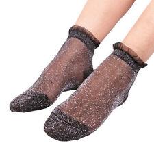 Hosiery Ultrathin Elastic Mesh Boat Fashion Silk Lacework Lace Socks Ladies
