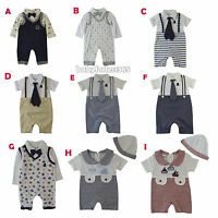Wholesale New Baby Boys Tuxedo Romper Jumpsuit Outfit Size 0 3 6 9 months
