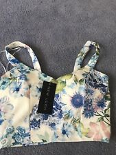 New Ladies New Look Floral Summer Crop Top Size 8 With Tags