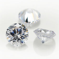 WHITE ROUND STAR CUT 5A CUBIC ZIRCONIA LOOSE GEMS  5-11MM VARIOUS PACK SIZES