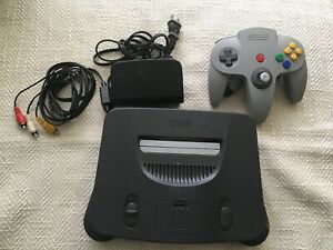 Nintendo 64 N64 Game Console System + Controller Cords WORKING play US & Japan