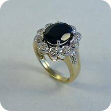 9 carat Gold Sapphire & Diamond Cluster Ring