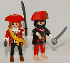 PLAYMOBIL PIRATES 2 PERSONNAGES PIRATES EQUIPES ACCESSOIRES