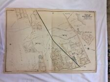 1898 City Of New Rochelle Ny Wards 1 & 3 Scale 300 Ft per Inch Linen Backed