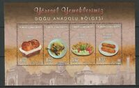 Turkey 2016 Food MNH Block