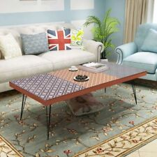 Vintage Industrial Coffee Table Wooden Retro Side Metal Tables Living Furniture