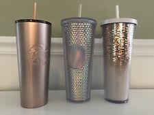 New Starbucks 2018 Holiday 24oz Cup Tumbler Hologram, Rose Gold Sequin & Shimmer