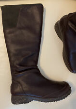 TEVA Afton - 1001935 - Brown Leather Tall Knee Boot Women's Size 9.5 M