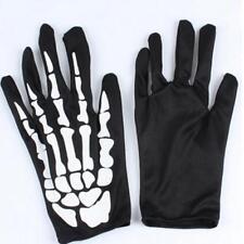 Skeleton Gloves for Women Men - Anti-slip Gel Padded Skull Gloves OO