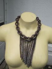 Bebe necklace fringe asymmetrical chain hanging 205483
