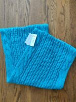 "NY&C women's non-sized infinity scarf teal metallic color 11"" wide NWT $24.95"