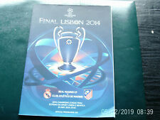 PROGRAMME UEFA FOOTBALL FINALE CHAMPIONS LEAGUE REAL ATHLETICO MADRID 2014