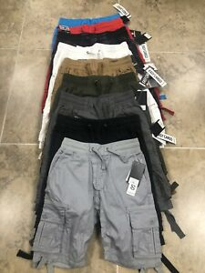 Southpole Cargo Shorts Boys Easy Cargo Elastic Waist Knee Long 1st Quality