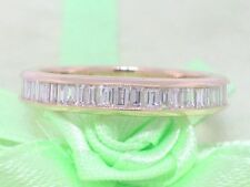 Baguette Diamant Ring 585 Gelbgold 14Kt Gold 0,78ct Memoire Memory Wesselton