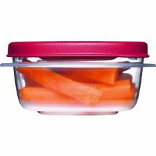 Rubbermaid  1777084 1.25-Cup Easy Find Lid Square Food Storage Containers