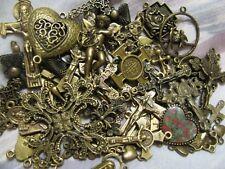 25 Religious Medal Pendant Crucifix Cross Lot #3 Our lady-Saint Random Selection