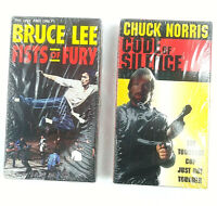 Fists of Fury Bruce Lee (VHS, 2002) Code of Silence Chuck Norris (VHS 1993) LOT