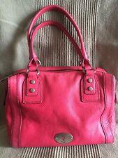 FOSSIL Dr. PINK Leather MARLOW Satchel Shoulder Bag