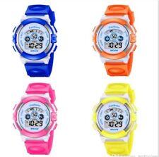 Water Proof Kids Children Boys Girls Colour Digital Sports LED Wrist Watches UK