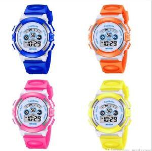 Kids Children Boys Girls Colour Digital Sports LED Wrist Watch  Watches UK