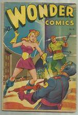 Wonder Comics #16 Pines 1948 Alex Schomburg SciFi/Bondage/GGA Cover