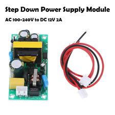 LED 100-240V to 12V 2A Step Down Buck Power Supply Module Converter Board AC-DC