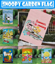 Outdoor Decor 12X18 Inch Enjoy Summer Snoopy Dog Double-sided Garden Flag/Banner