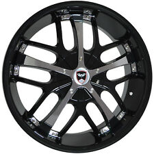 4 Wheels 18 inch Black Chrome SAVANTI Rims fits NISSAN 350Z 2002 - 2008
