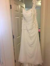 One Shoulder Strap New Davids Bridal Wedding Dress Size 20