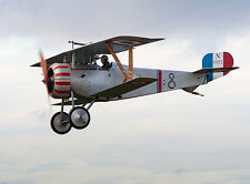 Giant 1/4 Scale French WW-I  Nieuport 17 Biplane Plans and Templates 80ws