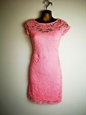 H & M 8 Barbie Pink Stretch Bodycon Lace Summer mini cap sleeve Party Dress
