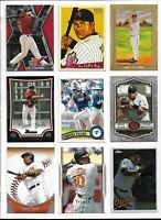 MIGUEL TEJADA (ATHLETICS / ORIOLES) - 70+ BASEBALL CARD LOT W/INSERTS LOT #1