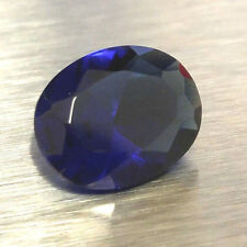 HIGH QUALITY Loose 10X8MM Oval Cut SIMULATED BLUE SAPPHIRE / Glass