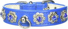 Mirage Pet Products Starlite Pet Collar, Size 10, Blue NEW🔥