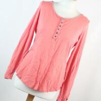 Marks & Spencer Womens Size 12 Pink Plain Cotton Basic Tee