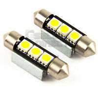 2x 38mm 3 SMD LED 239 272 C5W CANBUS NO ERROR WHITE INTERIOR LIGHT FESTOON BULB