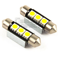 2 x WHITE SUN VISOR VANITY MIRROR FUSE FESTOON LED LIGHT BULBS 3-SMD CAR A7 S7