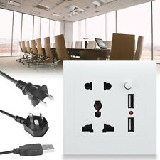 Universal Dual 2.1 USB Electric Wall Power Socket Outlet Adapter Plug Plate DC5V